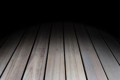 Dark room interior with wood floor. Dark room with wood floor Stock Photography