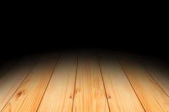 Dark room interior with wood floor. Dark room with wood floor Stock Photo