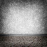 Dark room with metal floor Stock Photos