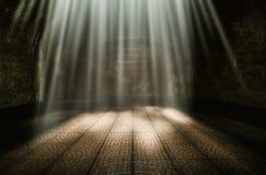 Dark room in the morning. Sun shone beautifully 3d rendering royalty free illustration