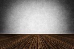 Dark room with wooden floor Stock Photo