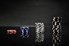 Dark roulette, casino theme with gambling stuff Stock Photo
