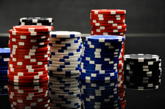 Dark roulette, casino theme with gambling stuff Royalty Free Stock Photography