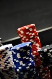 Dark roulette, casino theme with gambling stuff Stock Photography