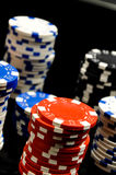 Dark roulette, casino theme with gambling stuff Royalty Free Stock Image