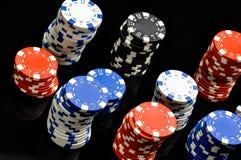 Dark roulette, casino theme with gambling stuff Stock Image