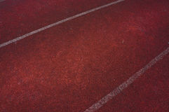 Dark run race track and white line stock photos