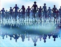 Dark runners Royalty Free Stock Photo
