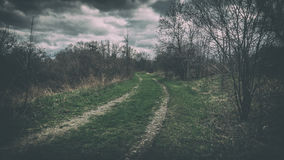 Dark Rural Road Stock Images