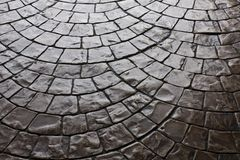 Dark Rustic Floor Paving Stone Pattern Royalty Free Stock Photo