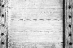 Dark rustic wooden plank background Stock Photo