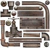 Dark and rusty industrial design elements Stock Image