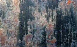 Dark rusty metal texture. Vintage effect.  Stock Image
