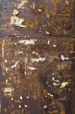 Dark rusty wall with advertisement royalty free stock photo