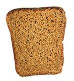Dark rye bread slice closeup. Stock Photography