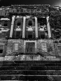 Vertical Creepy Abandoned Haunted Hospital. Dark Scary Abandoned Haunted Hospital royalty free stock photos