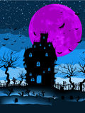 Dark scary halloween night. EPS 8 Stock Photography