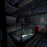 Dark and scary place in a scifi setting. 3D Royalty Free Stock Photo