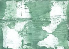 Dark sea green blurred watercolor background. Hand-drawn abstract watercolor texture. Used contrasting and transient colors Stock Images