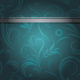 Dark sea green ornamental background Royalty Free Stock Image