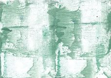 Dark sea green vague watercolor paper. Hand-drawn abstract watercolor texture. Used contrasting and transient colors Royalty Free Stock Photo