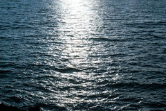 Dark Sea Water with Moon Light Royalty Free Stock Photo