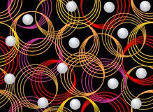 Dark seamless background with colorful circles. Black seamless background with colorful circles and pearls Stock Photo