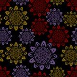 Dark seamless background with geometric stars Stock Image