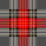 Dark seamless checkered pattern for school uniform. Royalty Free Stock Image