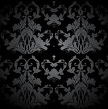 Dark Seamless Damask Pattern. Vector Royalty Free Stock Photography