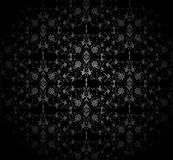 Dark seamless damask pattern. Vector illustration Stock Photo