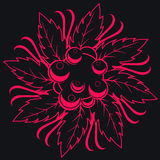 Dark seamless floral stock illustration
