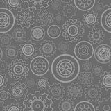 Dark seamless gear wheels pattern Stock Photos