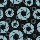 Dark seamless pattern with camera shutters Royalty Free Stock Photography