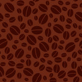 Dark seamless vector pattern with coffee beans Stock Photography