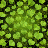 Dark seamless pattern with green leaves Royalty Free Stock Photos