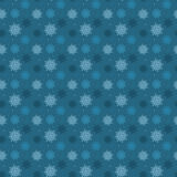 Dark seamless pattern of many light snowflakes on blue backgroun. D. Soft Christmas winter theme for gift wrapping. New Year seamless background for website Stock Images