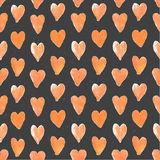 Dark seamless pattern of red hearts Stock Images