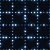 Dark seamless pattern with shinning silver dot grid Royalty Free Stock Photo