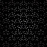 Dark seamless pattern - vector black vintage Stock Photography