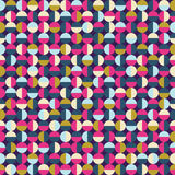 Dark seamless round pattern, background or texture. Stock Photography