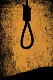 Lynch Mob Hanging Noose. A dark sepia style image of a hangman noose knot Stock Photos