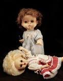 Dark series. Vintage killer doll. Dark series - vintage killer doll Stock Image