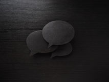 Dark set of speech and thought blobs, three Royalty Free Stock Images