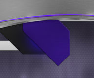 Dark Shapes Violet Background Royalty Free Stock Photography