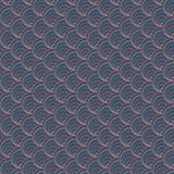 Dark shell pattern. Based on Traditional Japanese Embroidery. Abstract Seamless pattern. Royalty Free Stock Images