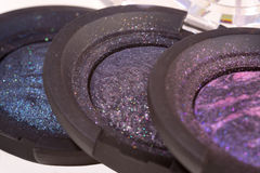 Dark shimmery eye shadows for make up Stock Photo