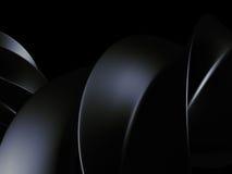Dark Shiny Metallic Background. 3d Render Stock Photos