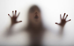 A dark silhouette - halloween Royalty Free Stock Photos
