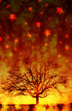 Dark silhouette Tree Stock Images